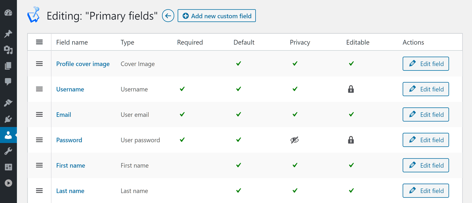 Add Custom User Profile Fields