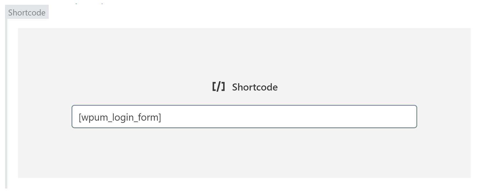 Login Form Shortcode
