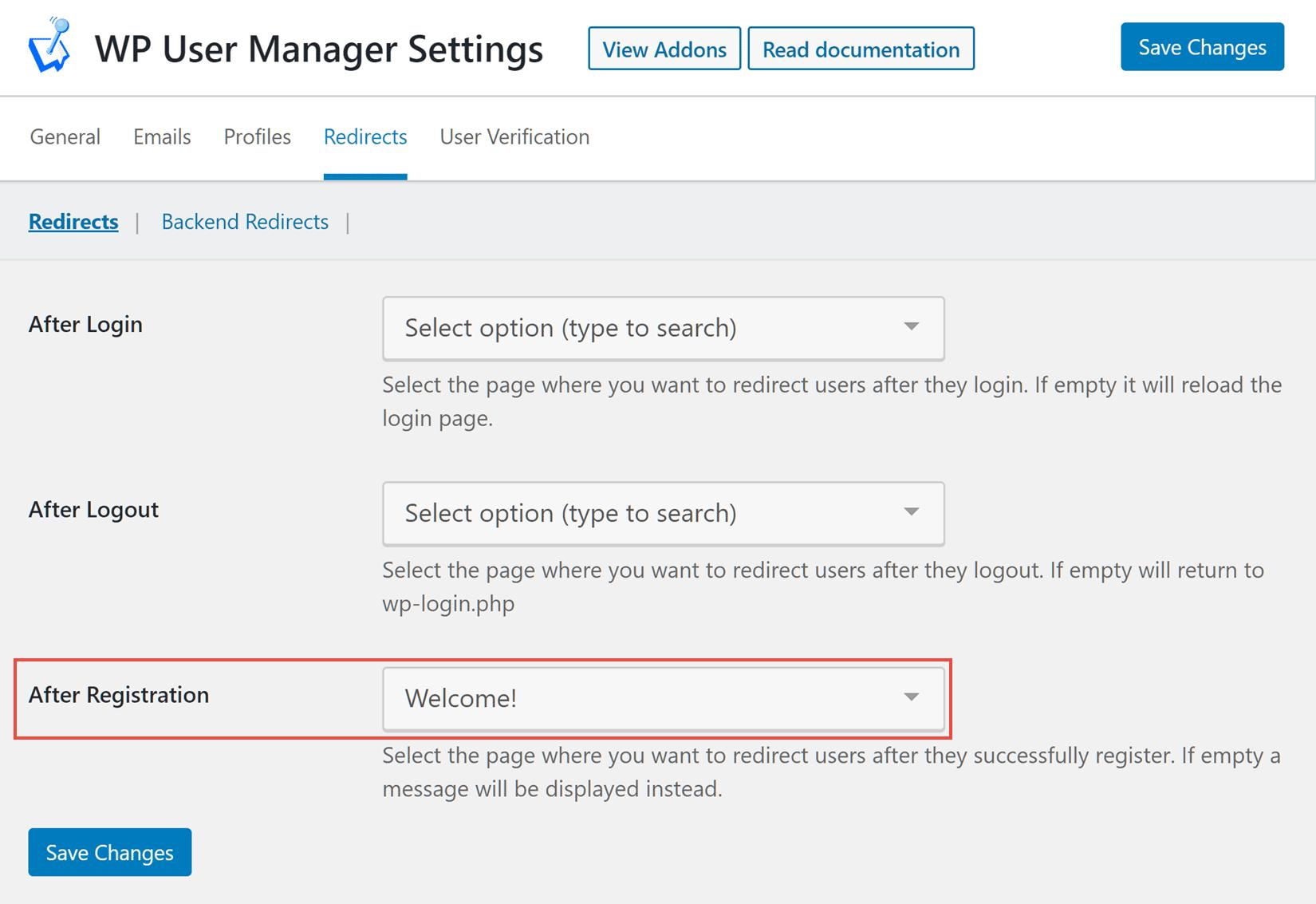 Custom WordPress Registration Form Redirects