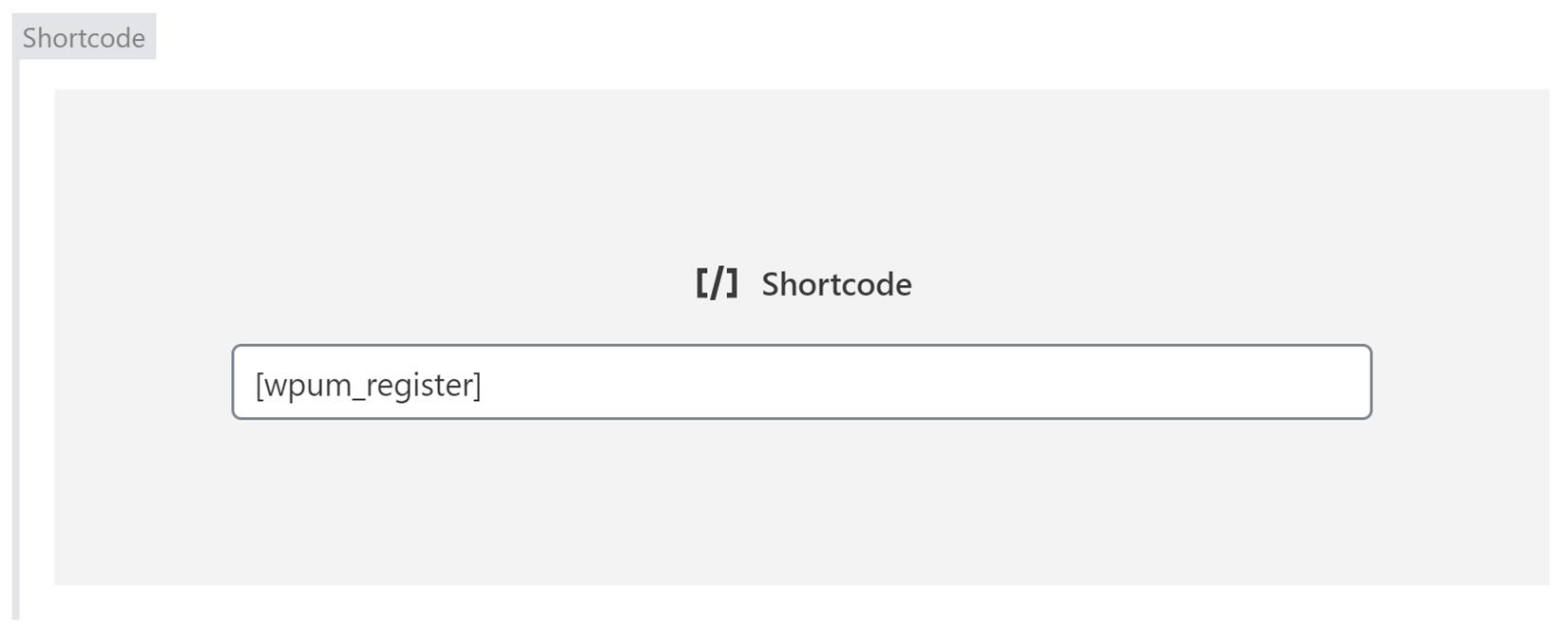 WP User Manager Registration Form Shortcode