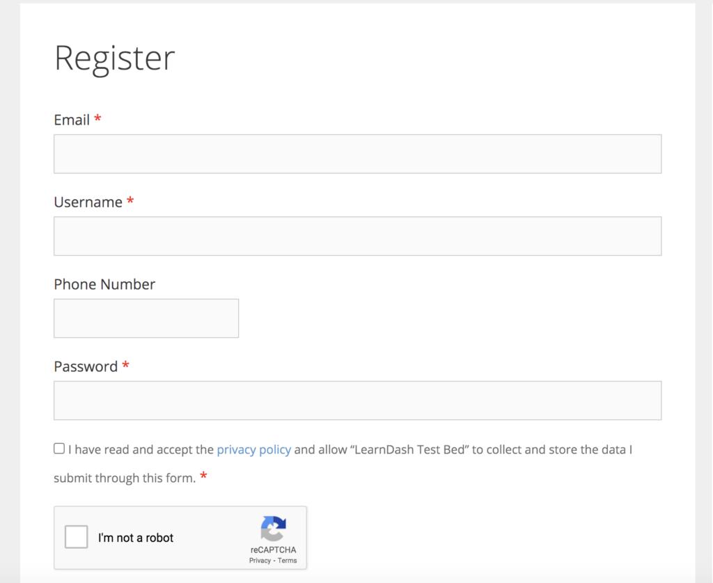 Collecting custom user meta in the WordPress registration form