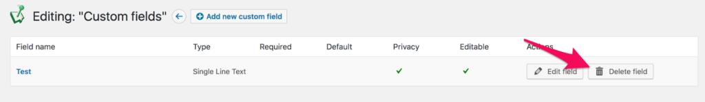 Deleting WordPress custom field