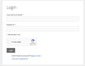 Google Recaptcha - WPUM login