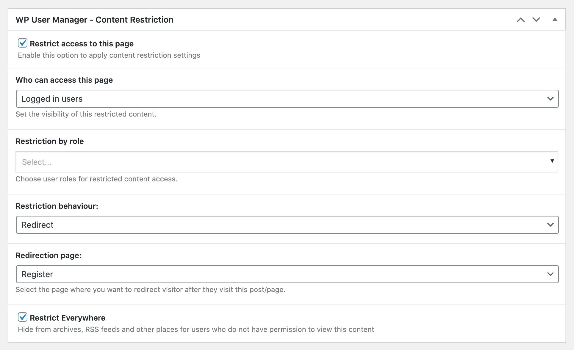 Content Restriction Plus screenshot