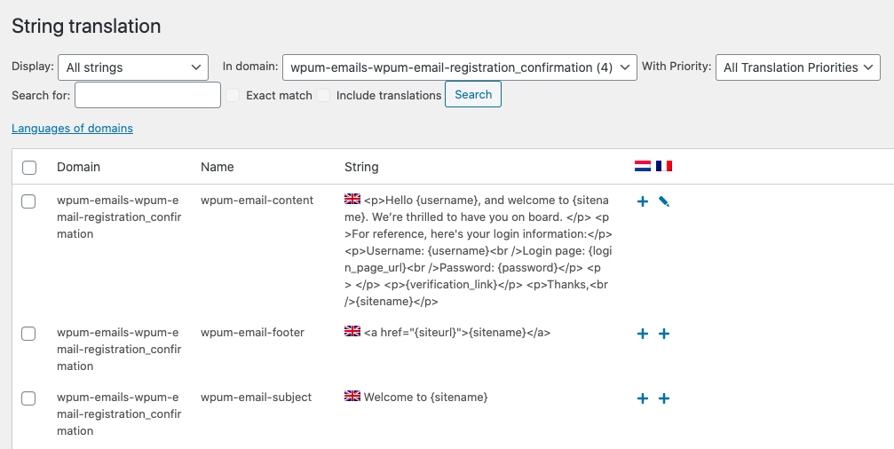 Translating WP User Manager with WPML