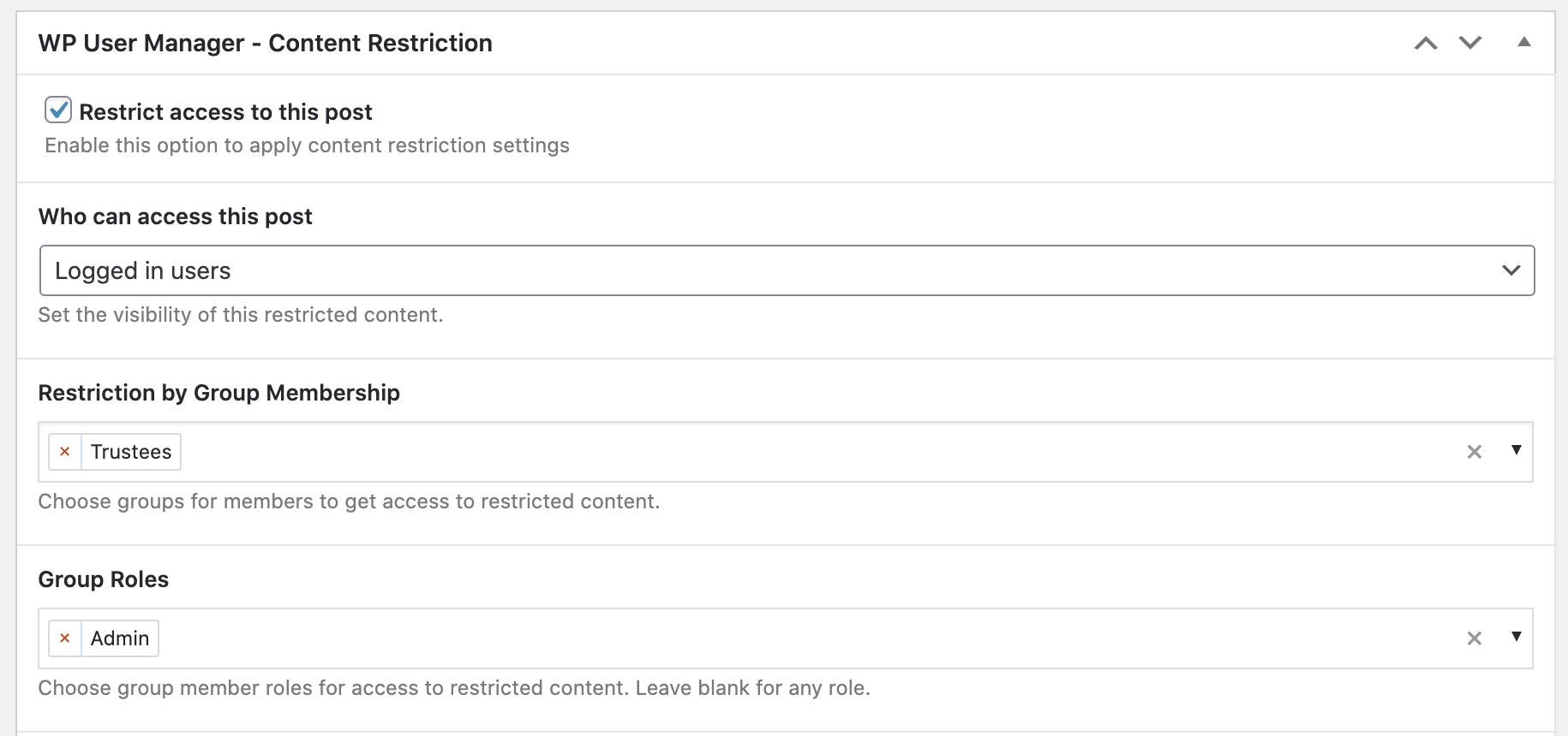 Content Restriction Integration screenshot