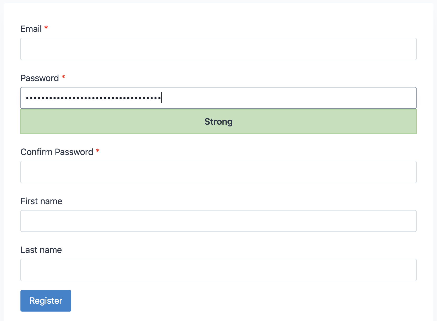 Password Strength Meter screenshot