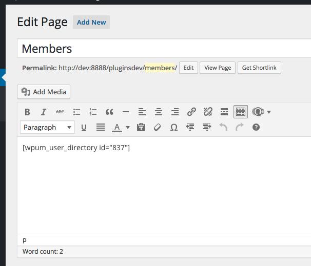Wordpress Membership Directory