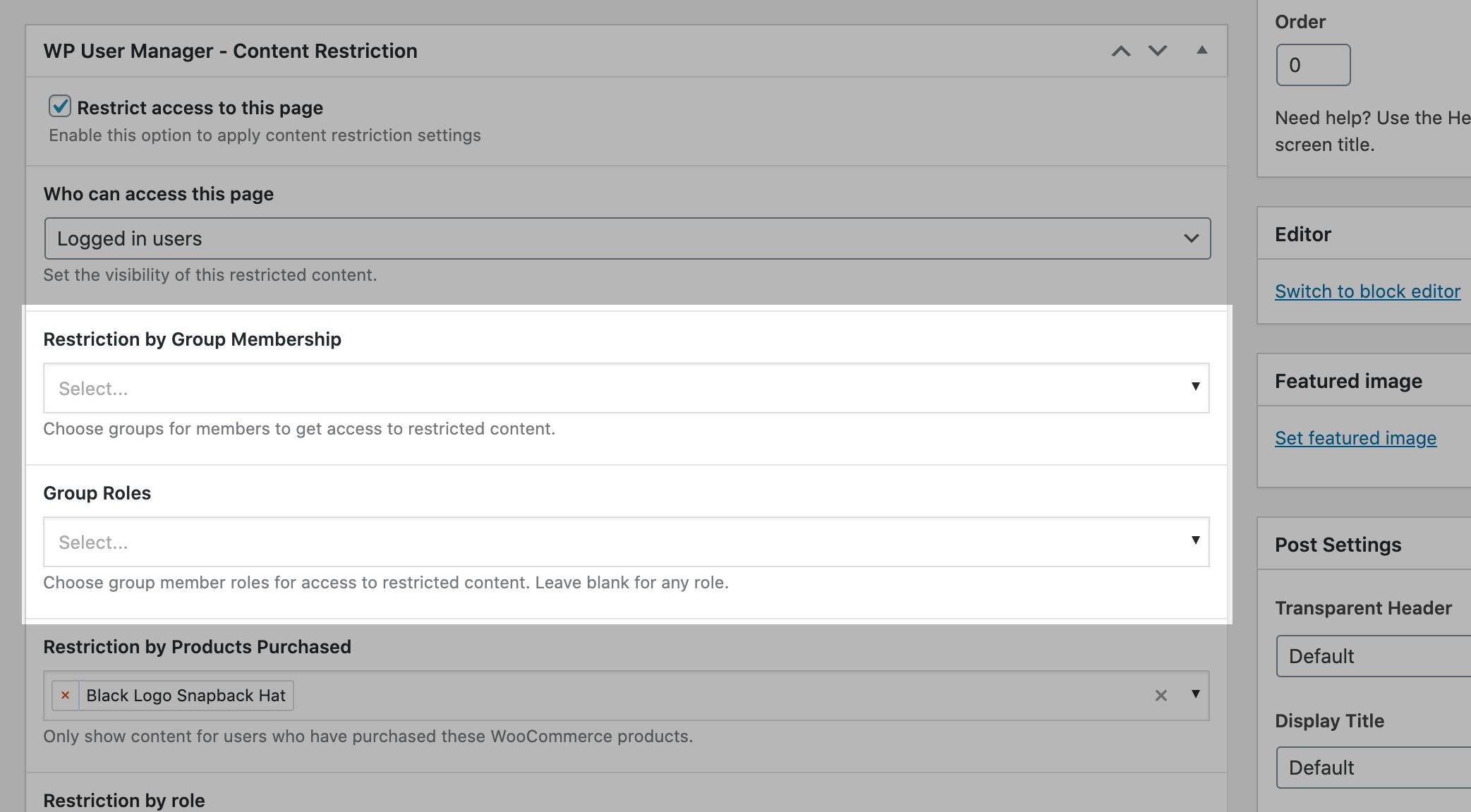 Groups Integration screenshot