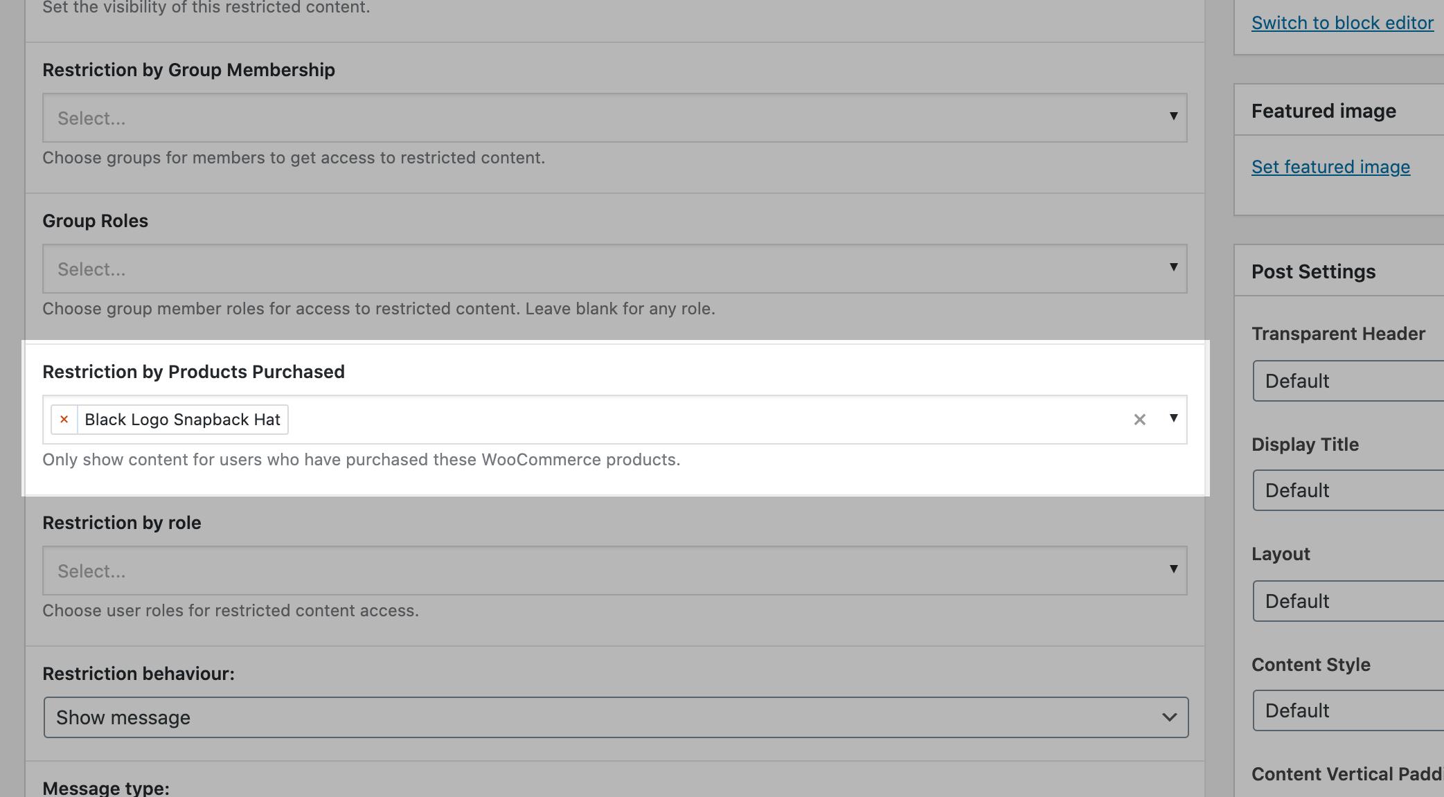 WooCommerce Integration screenshot