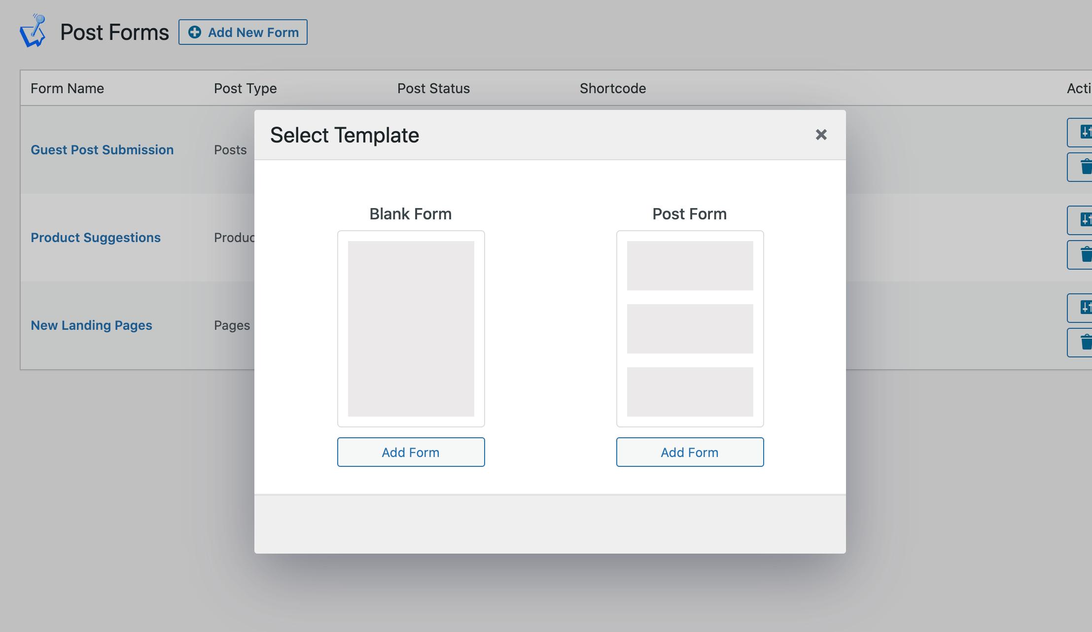 Form Templates screenshot