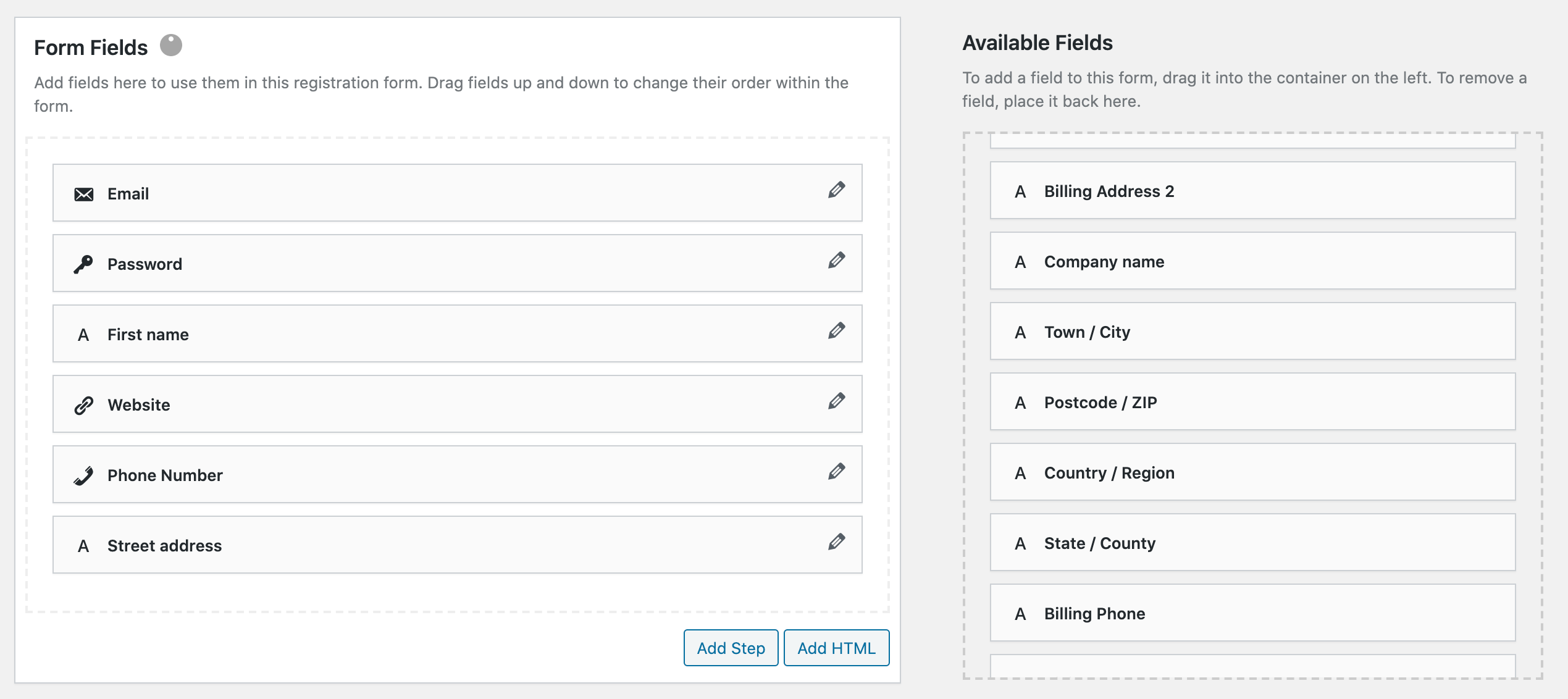 Collect Billing Data on Registration screenshot