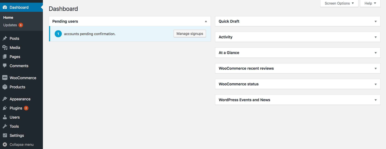 Integrated Dashboard Widget screenshot