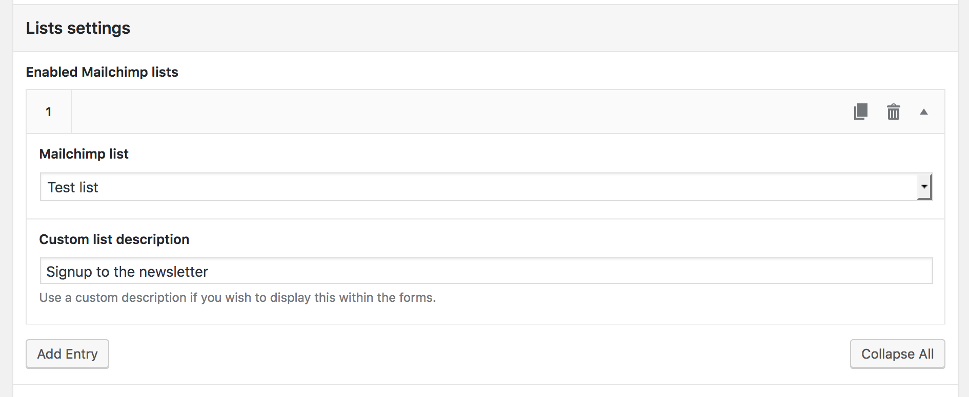 Registration & Account Integration screenshot