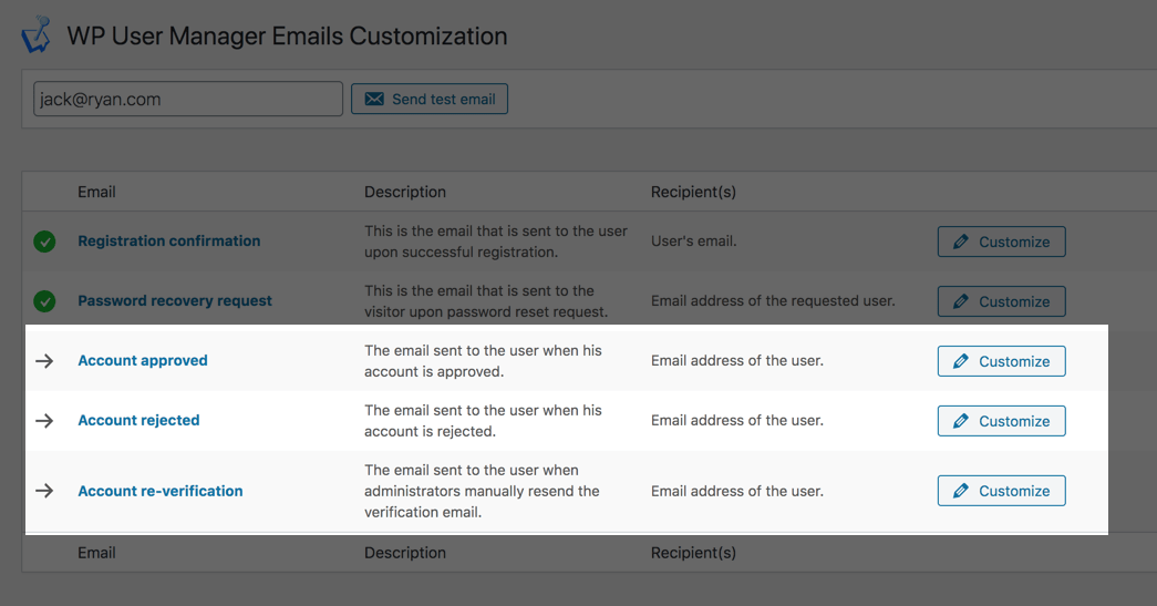 Enhanced Emails screenshot